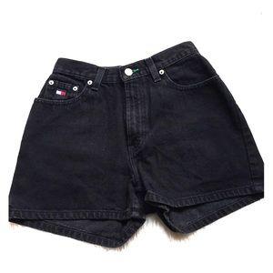 VINTAGE tOMMY HILFIGER Black Jeans Shorts - Sz 4